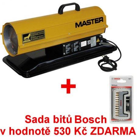 Naftové topidlo MASTER B 35 CEL + sada bitů Bosch ZDARMA