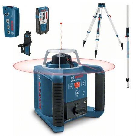 Rotační laser Bosch GRL 300 HV Professional + LR1 + RC1 + WM4 + BT170HD + GR240 061599405U