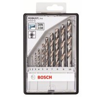 Sada vrtáků do kovu Robust Line HSS-G, 10dílná, 135° Bosch
