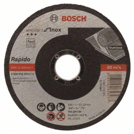 Kotouč řezný rovný Bosch, Standard for Inox