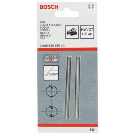 Nůž pro hoblíky, 82mm ostrý, rovný, HM /2ks/ Bosch