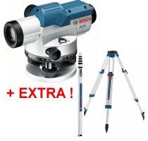 Nivelační přístroj Bosch GOL 26 D Professional + stativ BT 160 + lať GR 500 061599400E