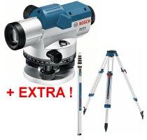Nivelační přístroj Bosch GOL 26 G Professional + stativ BT 160 + lať GR 500 061599400C