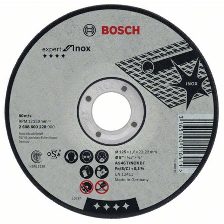 Kotouč řezný Bosch 125x1,6mm Rapido for inox /bal.10ks/