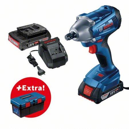 Aku rázový utahovák Bosch GDS 250-LI Professional + Toolbox  PRO