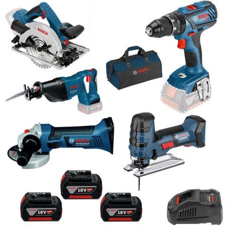 Set aku strojů Bosch Professional 5ks 0615990K6N