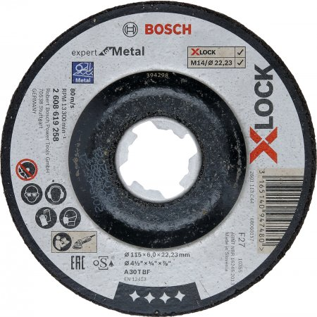 Kotouč brusný Bosch Professional Expert for Metal X-LOCK