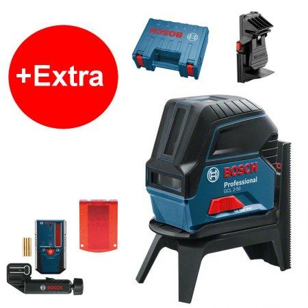 Křížový laser Bosch GCL 2-50 Professional + příslušenství 0601066F01
