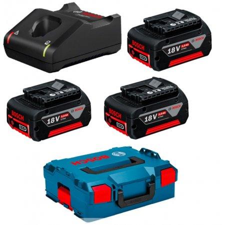 Startovací sada 3xaku 18V/5,0Ah+GAL18V-40+L-Boxx 0615990L3T